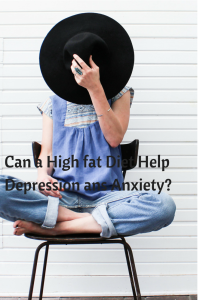 high fat diet can help depression