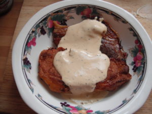 keto pork chops with mustard sauce