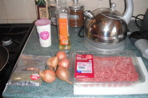 ingredients for beef mince pie