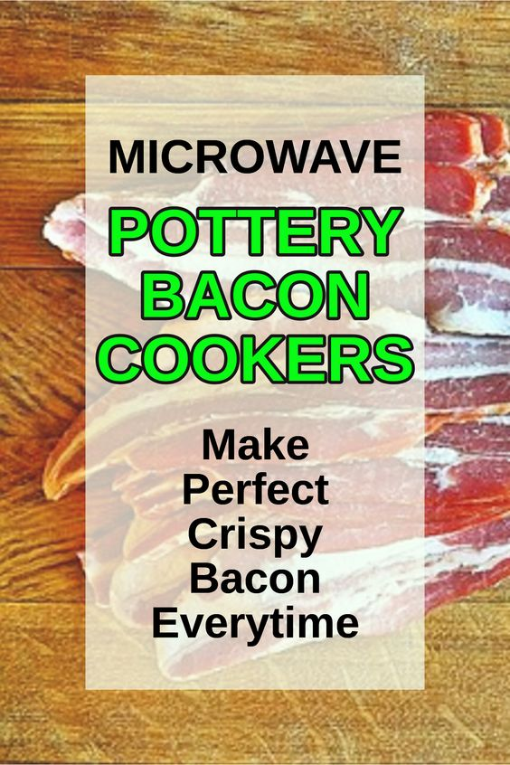 microwave pottery bacon makers