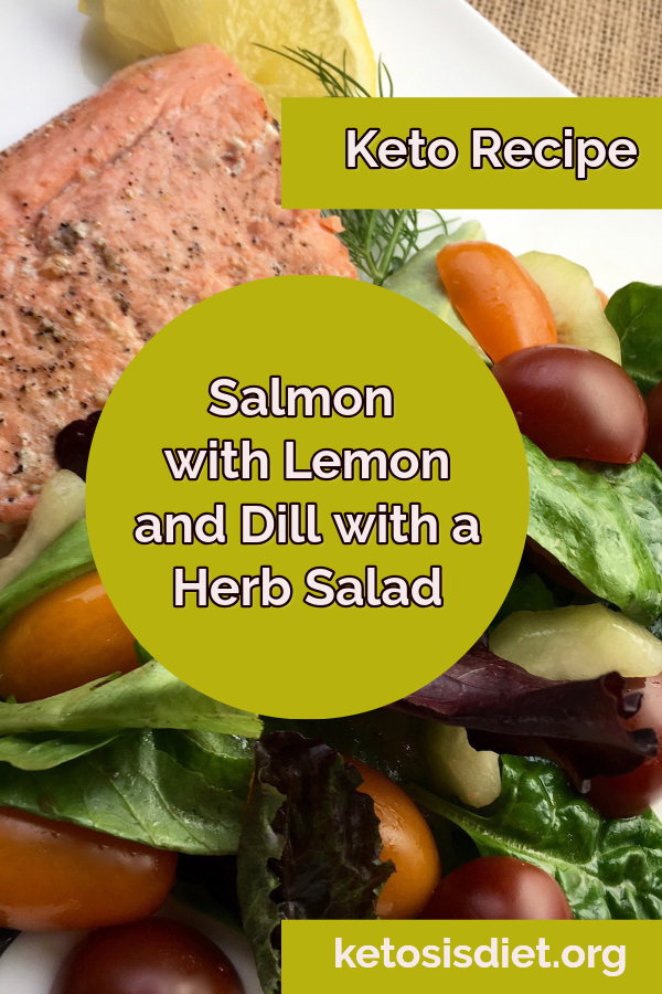 salmon with dill recipe with a herb salad